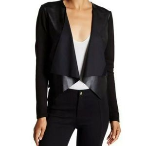 Calvin Klein Faux Leather Cardigan Sweater #4699